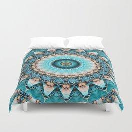 Mandala Precious stone turquoise Duvet Cover
