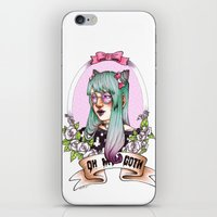 pastel goth iPhone & iPod Skins featuring Oh my GOTH! by Raquel Amo Art