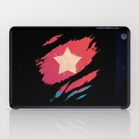 avenger iPad Cases featuring The First Avenger by Enk Shahbaz Mehdi
