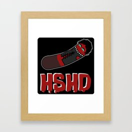 Horrorshow Hot Dog Logo - Frank 'n Furter variant Framed Art Print