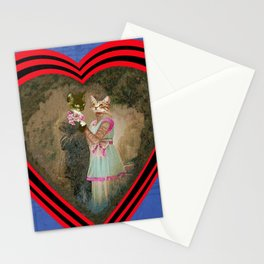 """Chats amoureux 1900, la partition"" / ""Lovers cats 900, the partition"" Stationery Cards"