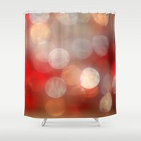 aperture Shower Curtains featuring Red Bokeh by ThePhotoGuyDarren