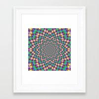 bender Framed Art Prints featuring Eye Bender by Objowl