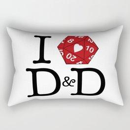 I Heart D&D Rectangular Pillow