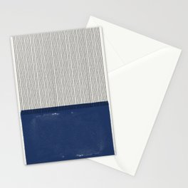 Navy Blue Mid Century  Stationery Cards