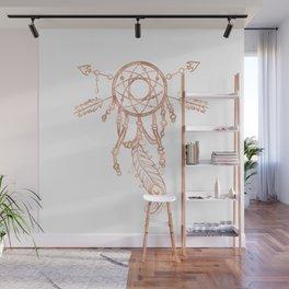 Mandala Rose Gold Pink Dreamcatcher Wall Mural