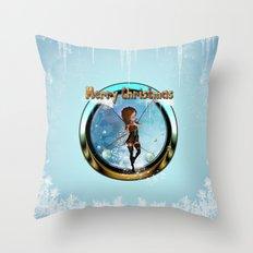 Cute elf  Throw Pillow