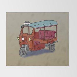 Red tuktuk / autorickshaw Throw Blanket