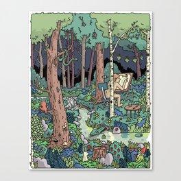 Artist in the Wild Canvas Print