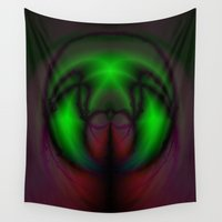 bug Wall Tapestries featuring Galactic Bug by Darcy Lynn Designs