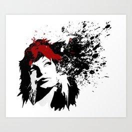 Girls Hair Art Print