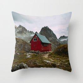 The Mint Hut in Hatcher Pass, Alaska Throw Pillow