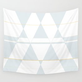 Blue grey triangles Wall Tapestry