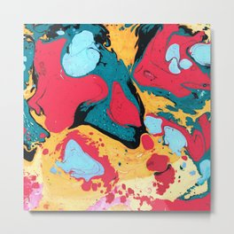 Abstract Painting drops Metal Print