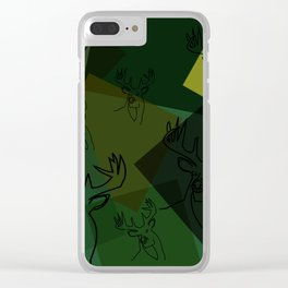 Buck Collage Clear iPhone Case
