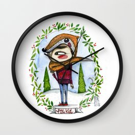 fox kid Wall Clock