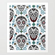 Sugar Skull Voodoo  Art Print