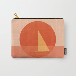 Abstraction_Sunset_Ocean_Sailing_Minimalism_001 Carry-All Pouch