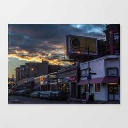 Sunset at the Circle Canvas Print