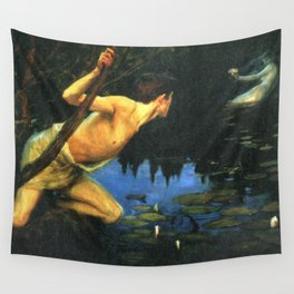 Siren by Albert Edelfelt Wall Tapestry