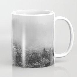 Landscape Photography   Forest Fog   Black and White Art   Minimalism Coffee Mug