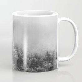 Landscape Photography | Forest Fog | Black and White Art | Minimalism Coffee Mug