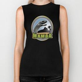 Black Mamba emblem Biker Tank