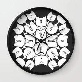Too Many Faces Wall Clock