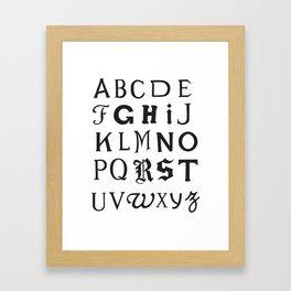 Cemetery Alphabet Framed Art Print
