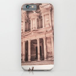Camels at Petra | Vintage Stunning Stone Monument Hidden Lost City Treasury Carved Cliff iPhone Case