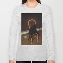 Black Cat on a Chair - Andrew L. von Wittkamp 1850-1875 Long Sleeve T-shirt
