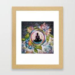 Meditation bag Framed Art Print