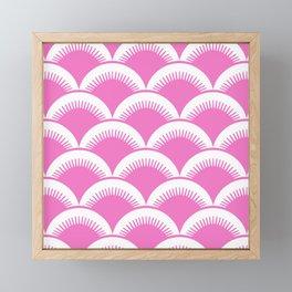 Japanese Fan Pattern Pink Framed Mini Art Print