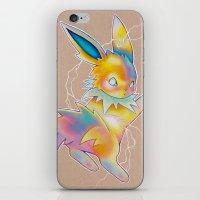 lightning iPhone & iPod Skins featuring Lightning by Reid