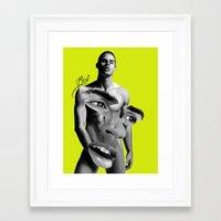 chad wys Framed Art Prints featuring anatomy: CHAD by g.Mozel