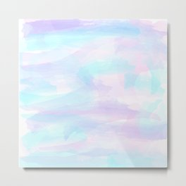 Pink, Purple, and Blue Watercolor Metal Print