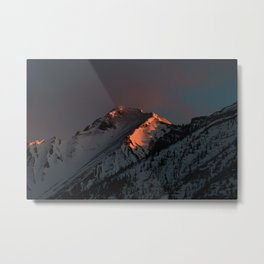 Early Morning Mountain Sunrise Metal Print