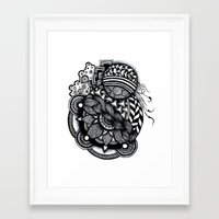 zentangle Framed Art Prints featuring zentangle by goyye