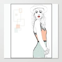 model Canvas Prints featuring MODEL by Panxy_Art