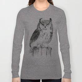 My great horned owl: Nuit Long Sleeve T-shirt