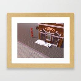 Barney's Lounge Coffeshop Framed Art Print