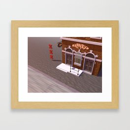 Barney's Lounge Coffeshop Framed Art Print