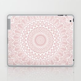 Light Rose Gold Mandala Minimal Minimalistic Laptop & iPad Skin