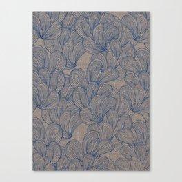 Palmiers Print - Indigo Canvas Print