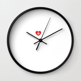 Live, Love, Rescue Dogs Cute Dog Owners Wall Clock