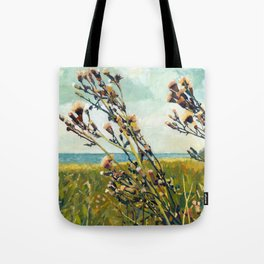 Thistles on the Beach Tote Bag