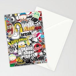 JDM Sticker Bomb Stationery Cards