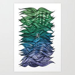 Coloured Hairyness Art Print