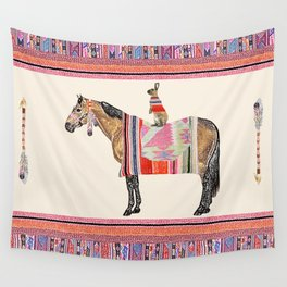 Horse with hare  Wall Tapestry
