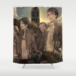 Attack on titan Shingeki no Kyojin japanese anime Shower Curtain